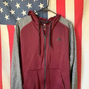 Adidas | Burgundy running jacket